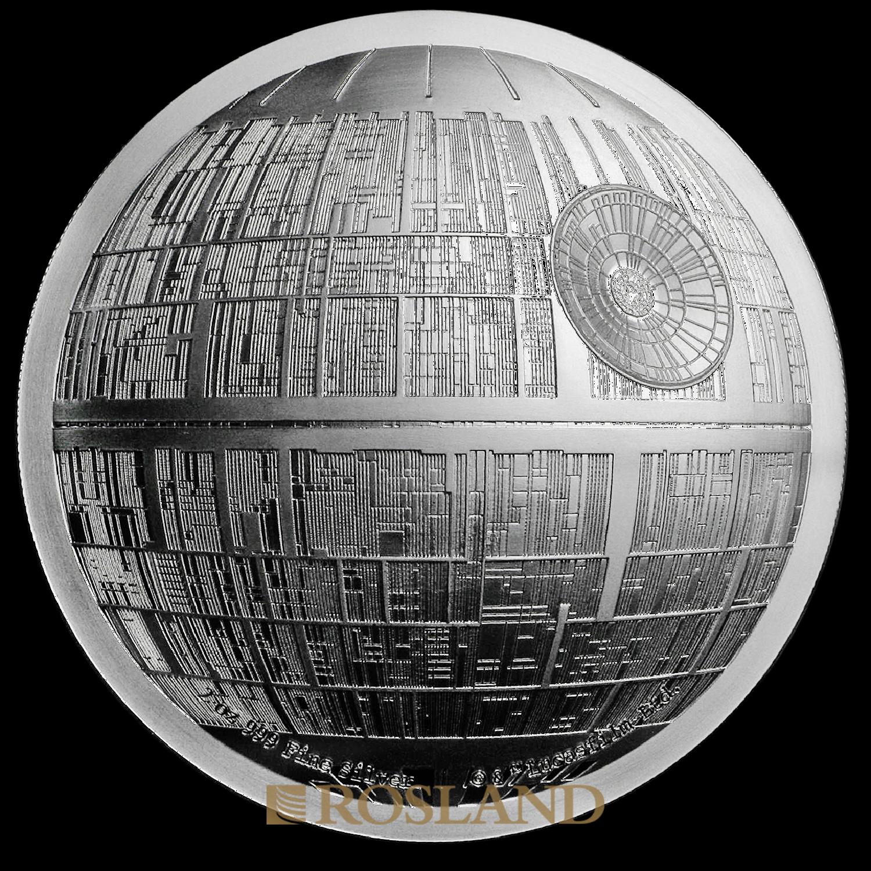 2 Unzen Silbermünze Star Wars™ Todesstern 2018 PP (UHR, Box, Zertifikat)