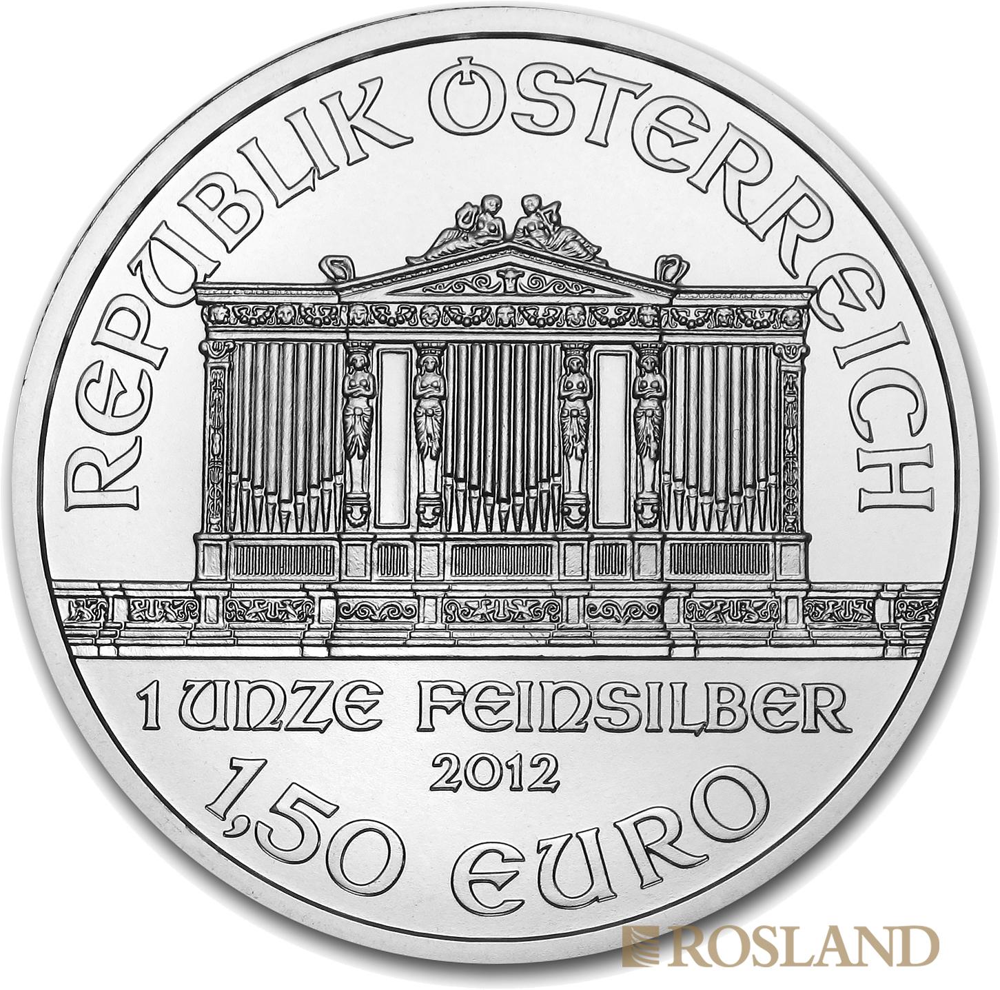 1 Unze Silbermünze Wiener Philharmoniker 2012