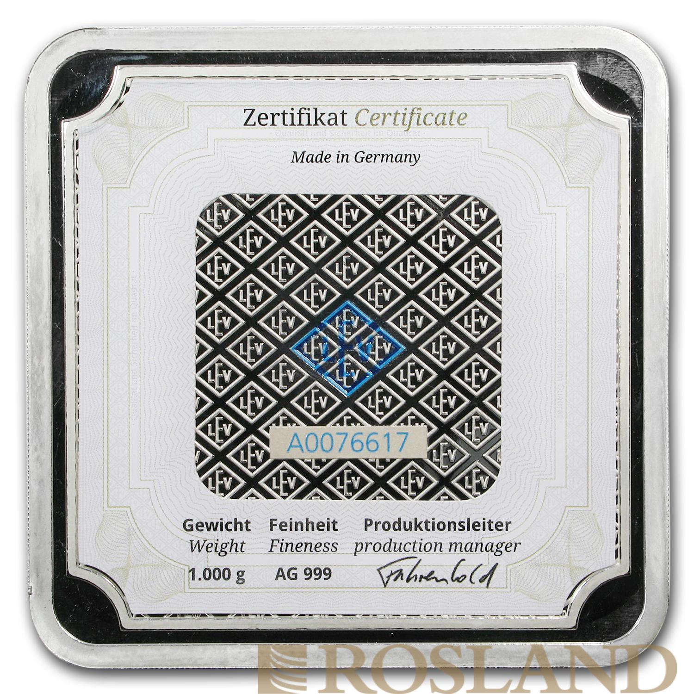 1 Kilogramm Silberbarren Geiger Edelmetalle Square Series