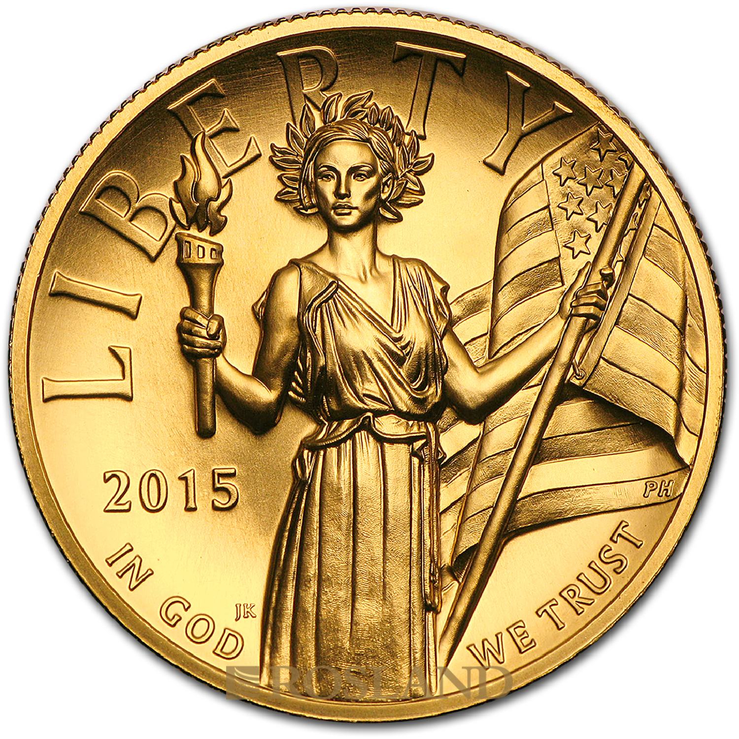 1 Unze Goldmünze American Liberty 2015 PL (HR, Box, Zertifikat)