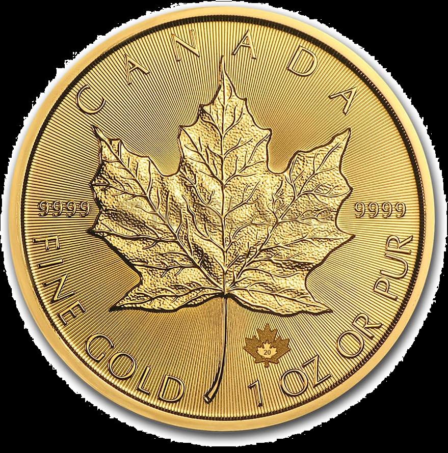 1 Unze Goldmünze Kanada Maple Leaf 2020