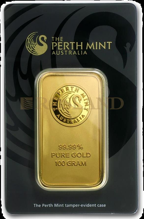 100 Gramm Goldbarren divers (Neuware, .9999 Gold)