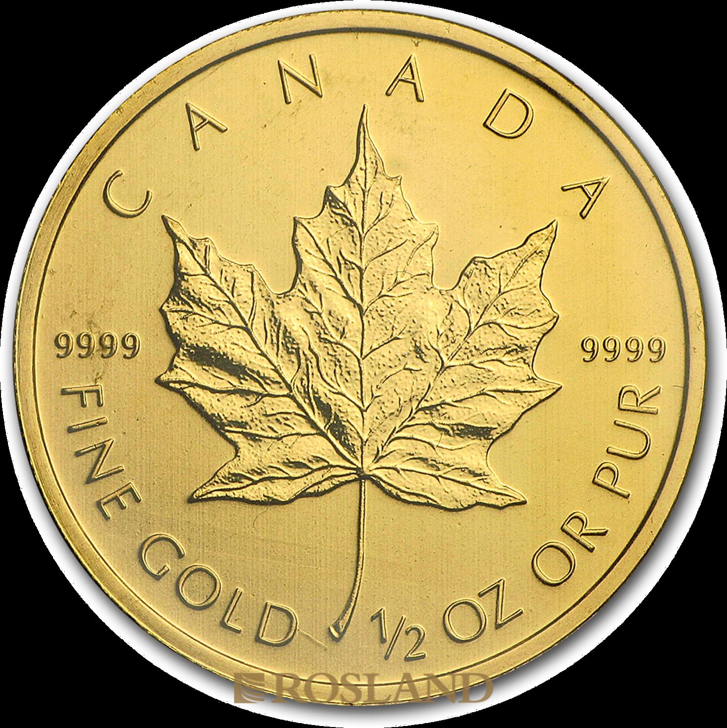 1/2 Unze Goldmünze Kanada Maple Leaf 2010