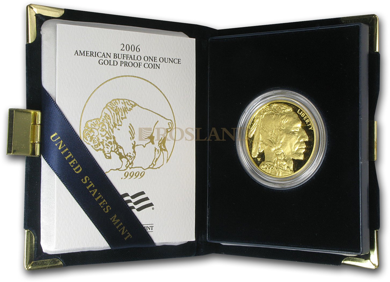 1 Unze Goldmünze American Buffalo 2006 PP (Box, Zertifikat)