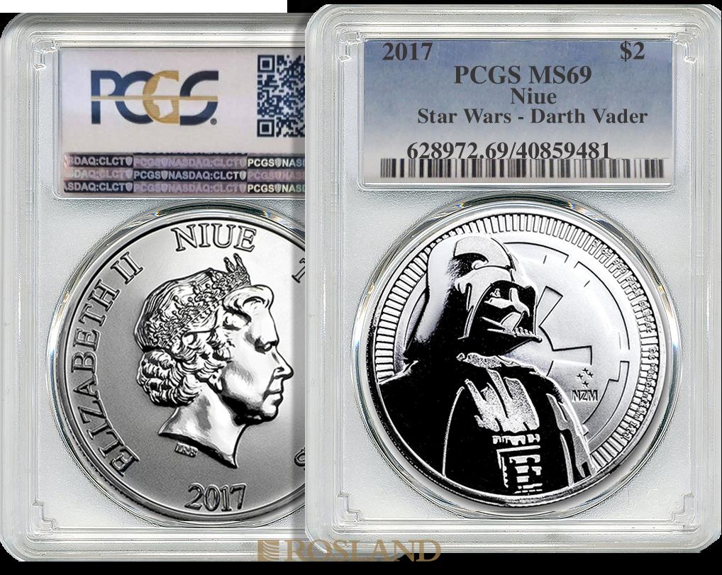 1 Unze Silbermünze Star Wars™ Darth Vader 2017 PCGS MS-69
