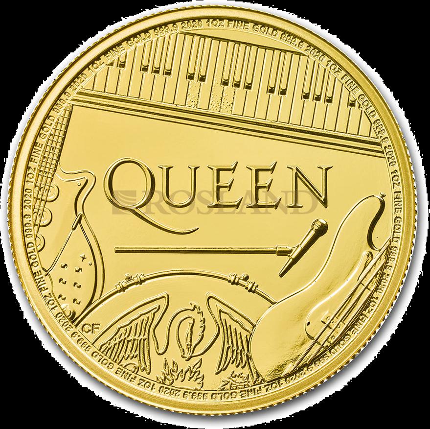 1 Unze Goldmünze GB Musiklegenden - Queen 2020
