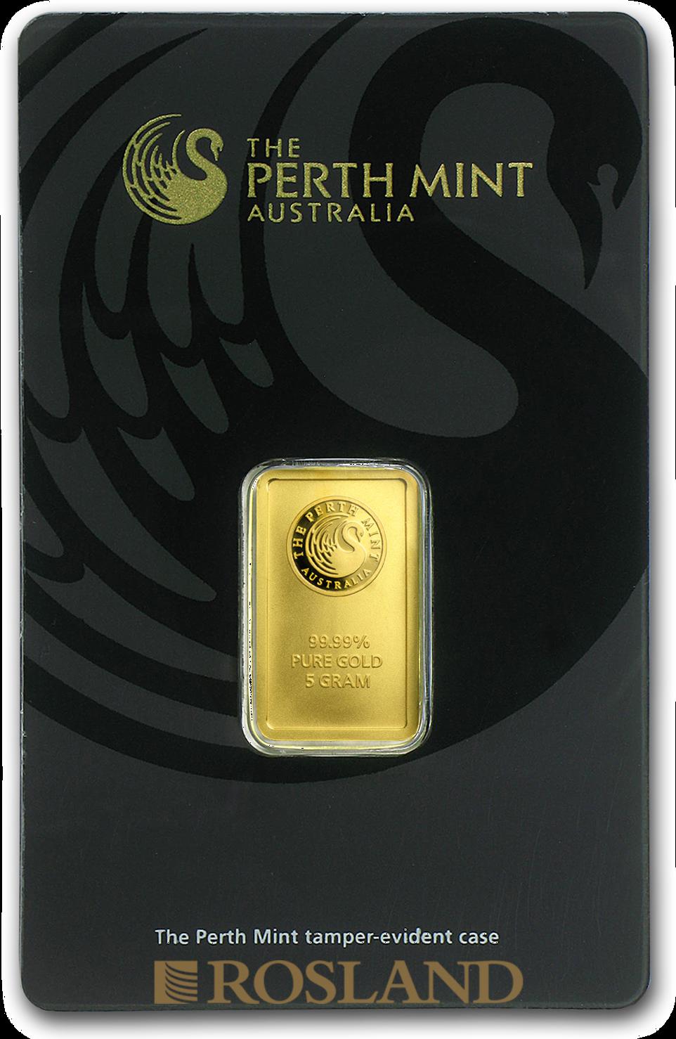 5 Gramm Goldbarren Perth Mint