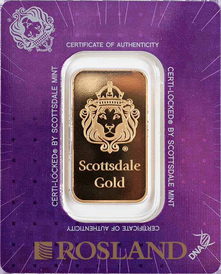 1 Unze Goldbarren Scottsdale Mint Certi Lock®
