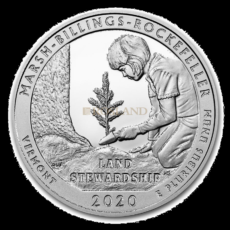 5 Unzen Silbermünze ATB MB Rockefeller National Historical Park 2020