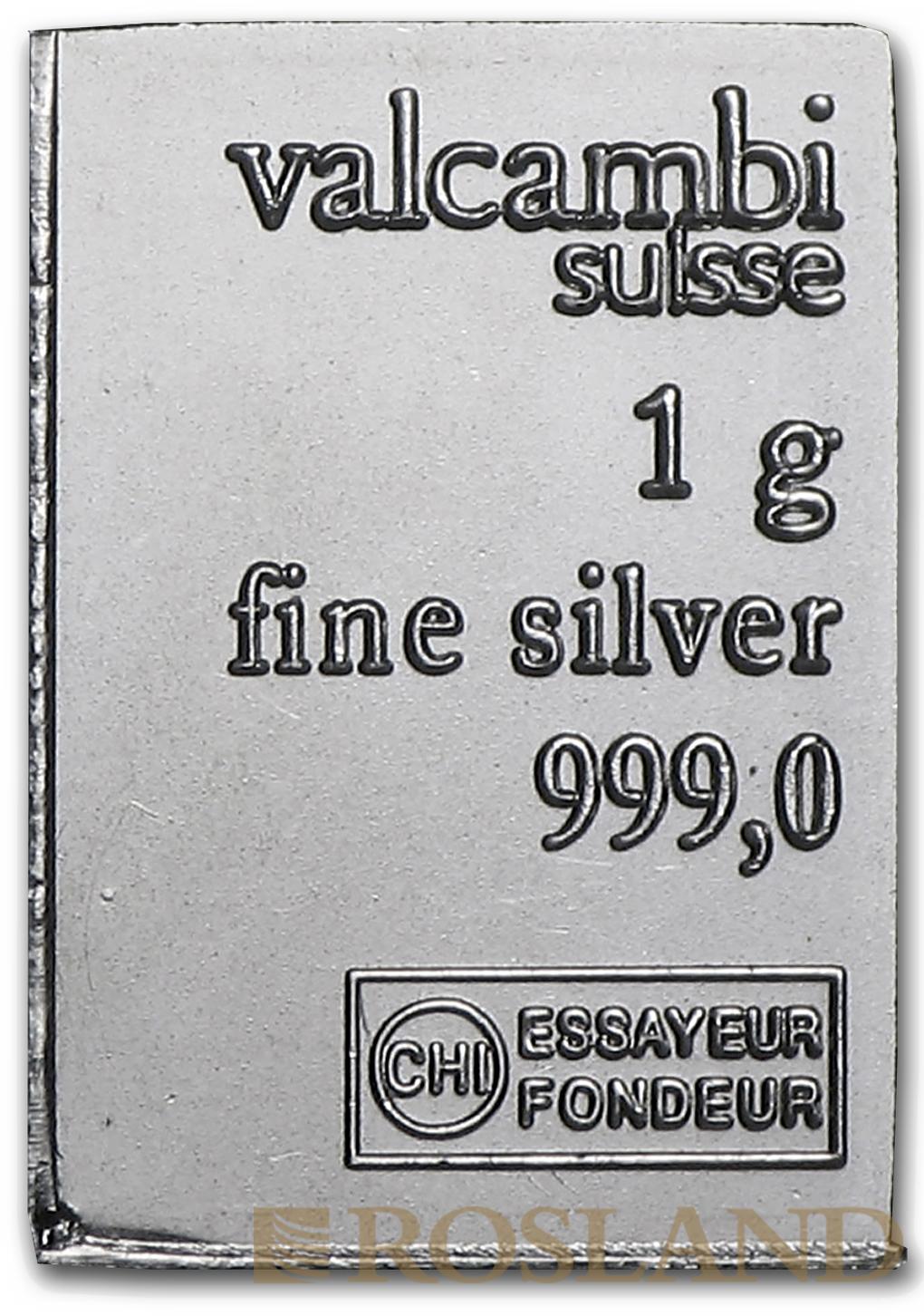 1 Gramm Silberbarren Valcambi