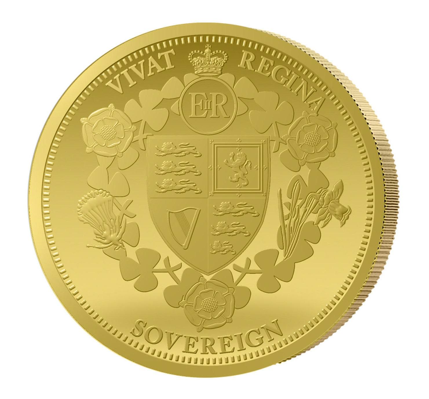 1 Sovereign Goldmünze Vivat Regina 2015