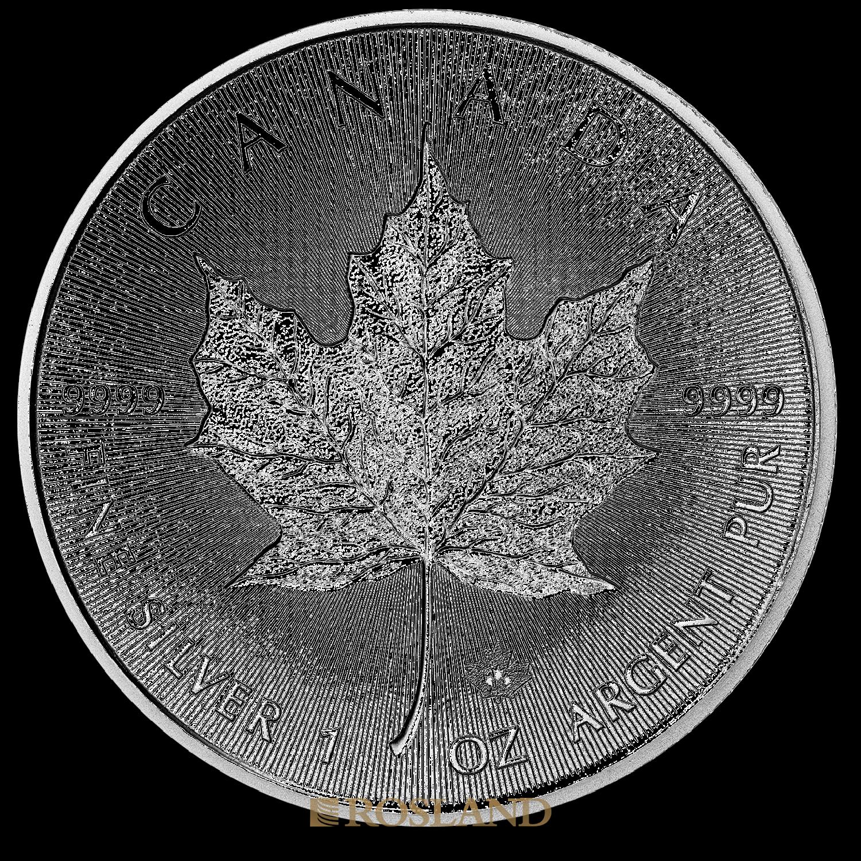 1 Unze Silbermünze Kanada Maple Leaf 2018 Incuse Edition