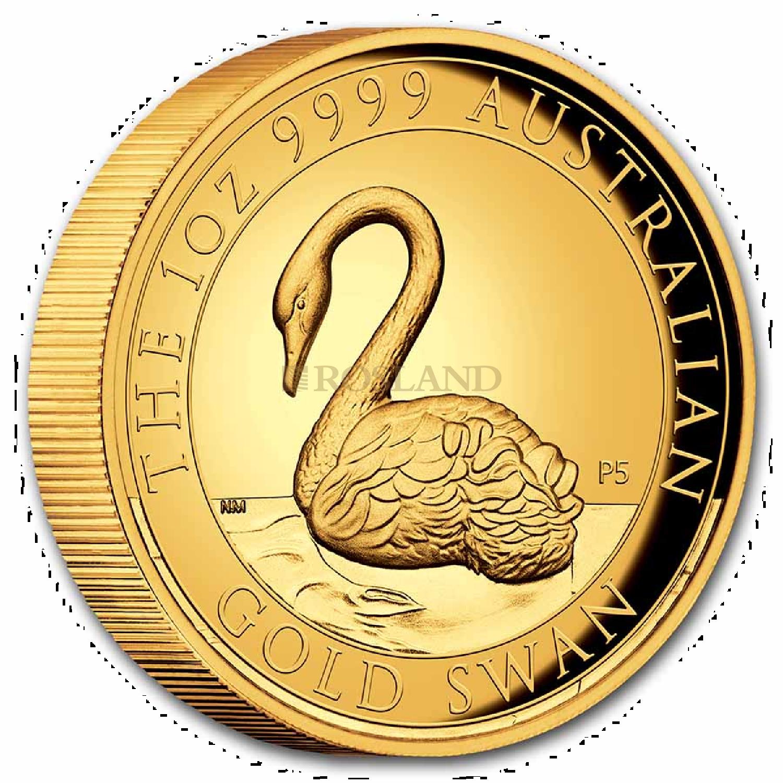 1 Unze Goldmünze Australien Schwan 2021 PP (HR, Box, Zertifikat)