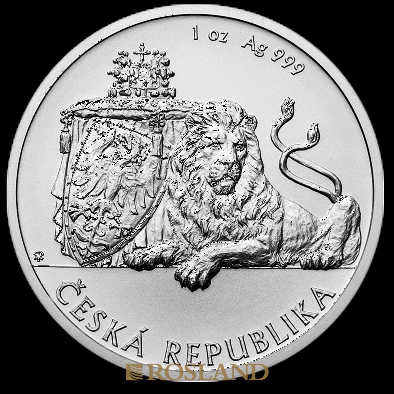 1 Unze Silbermünze Tschechischer Löwe 2017
