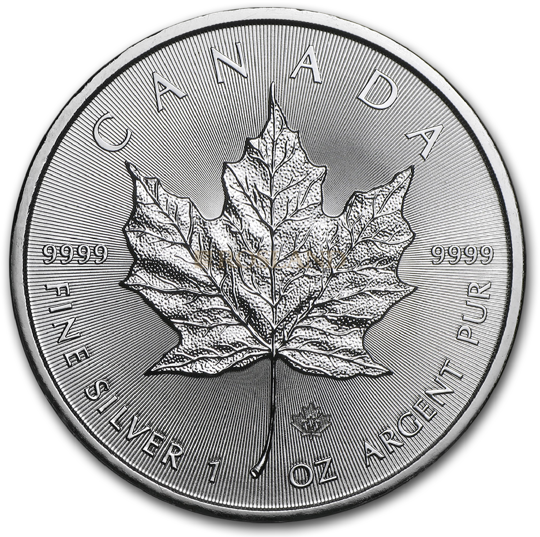 1 Unze Silbermünze Kanada Maple Leaf 2014