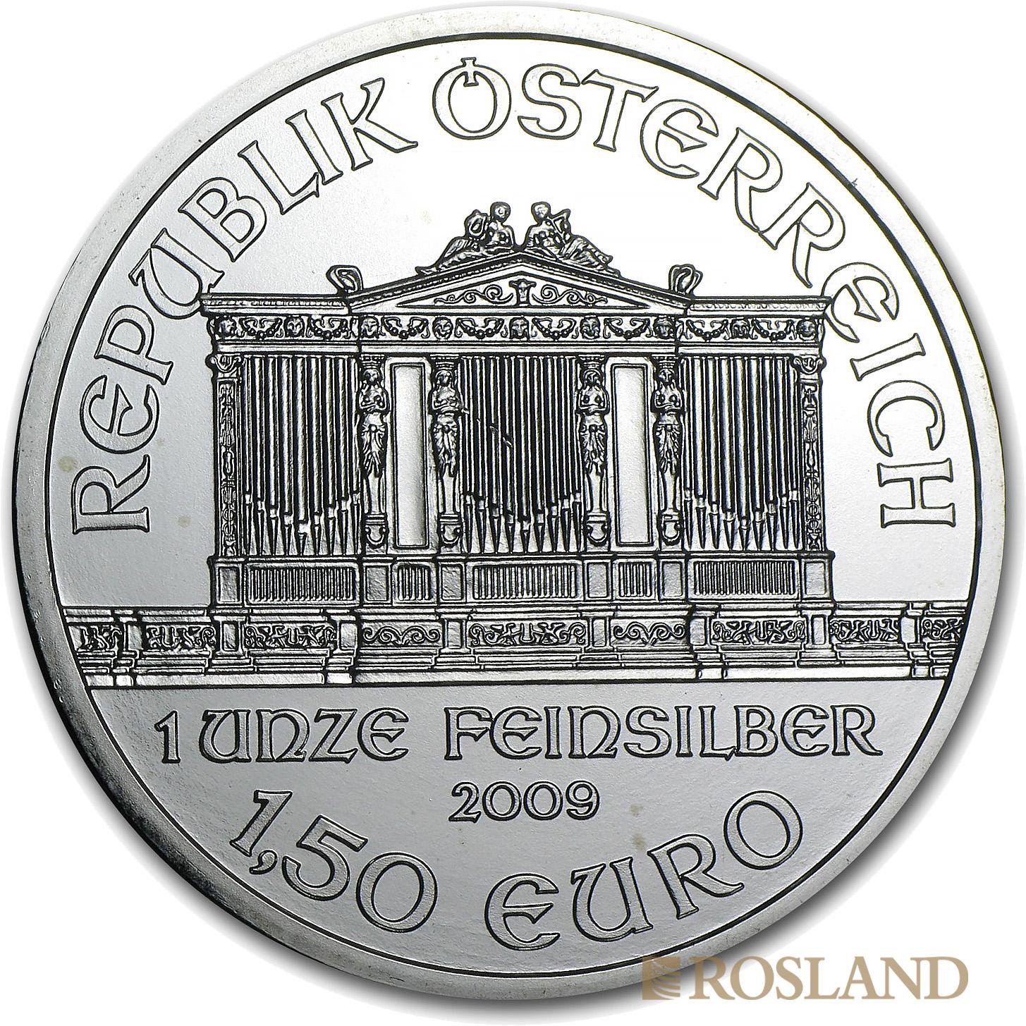 1 Unze Silbermünze Wiener Philharmoniker 2009