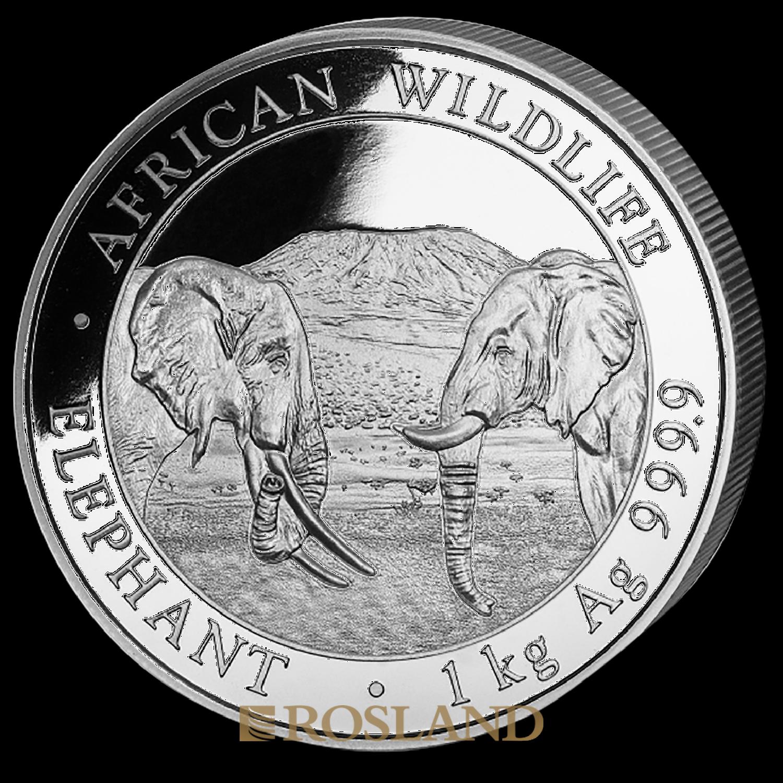 1 Kilogramm Silbermünze Somalia Elefant 2020