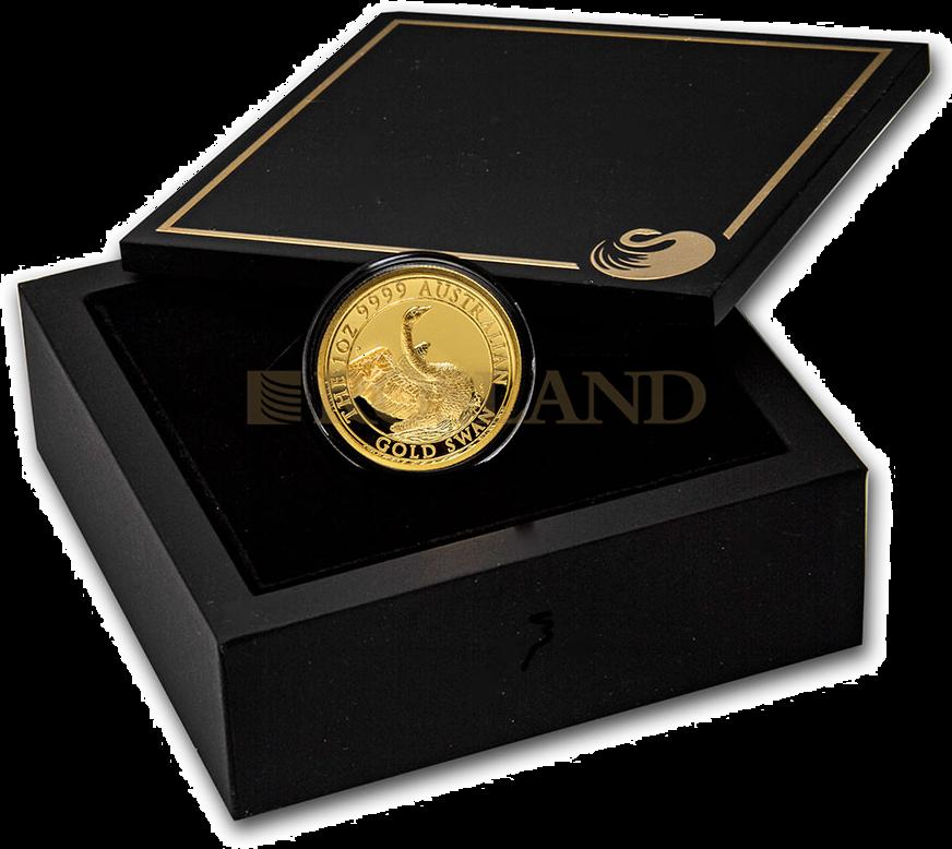 1 Unze Goldmünze Australien Schwan 2020 PP (HR, Box, Zertifikat)
