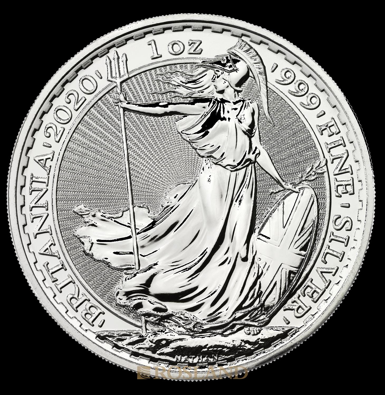 1 Unze Silbermünze Britannia 2020