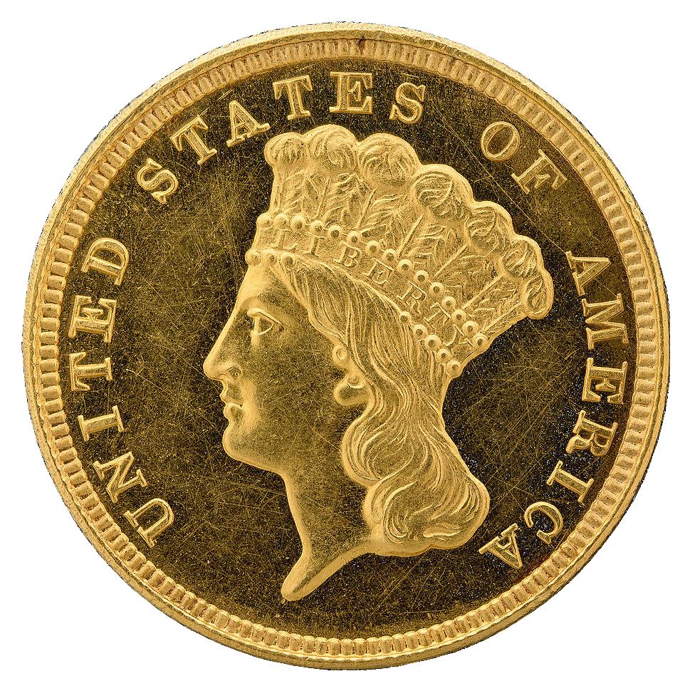 $3 Indian Princess 1854-1889