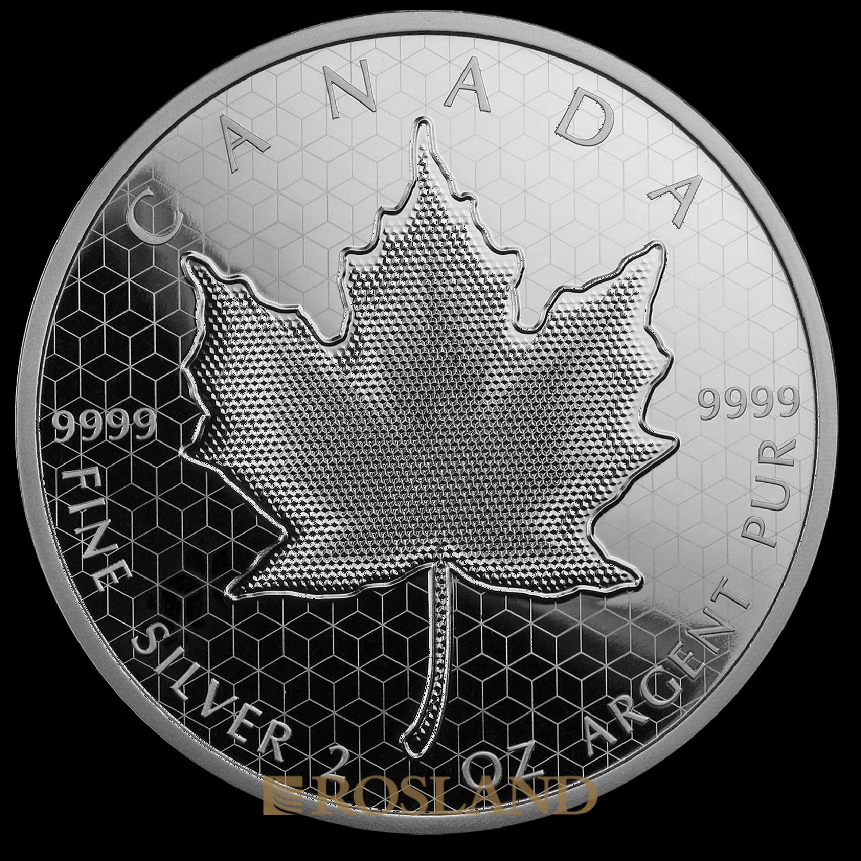 2 Unzen Silbermünze Kanada Maple Leaf Pulsating 2020 (Box, Zertifikat)