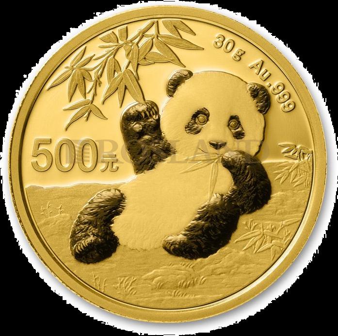 30 Gramm Goldmünze China Panda 2020