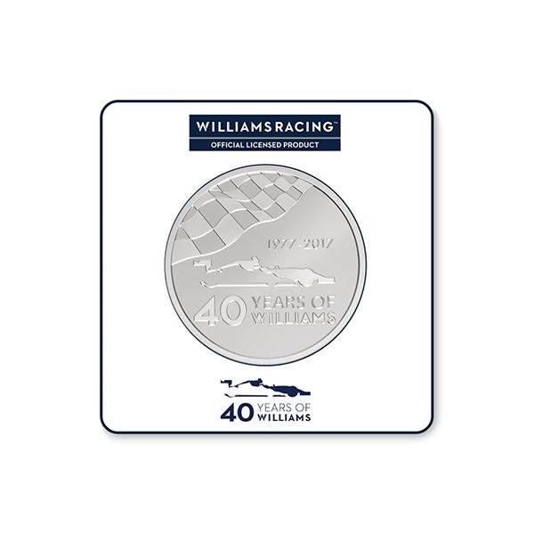2,5 Unzen Silbermünze 40 Jahre Williams Formel 1® PP (Box, Zertifikat)