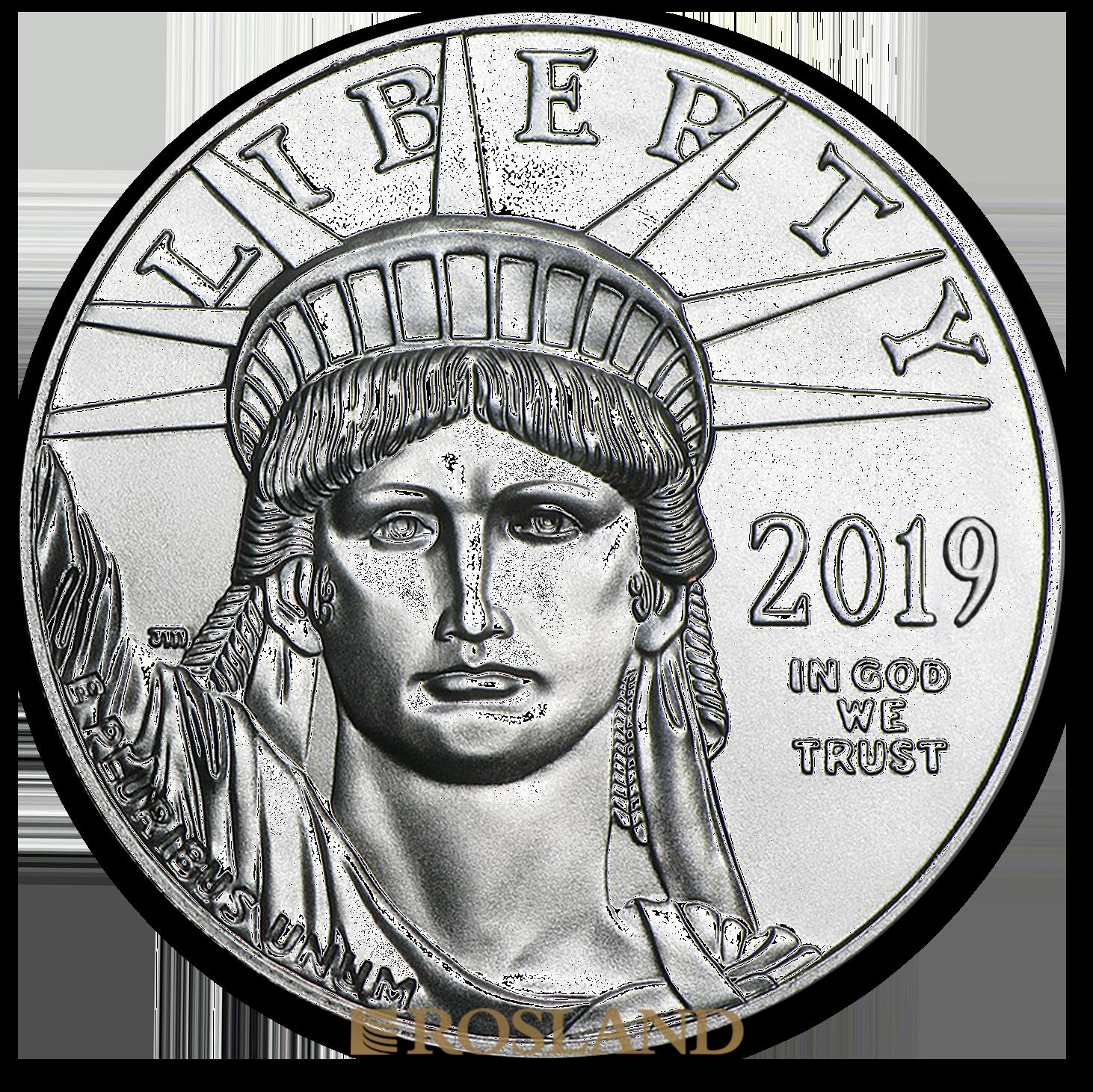 1 Unze Platinmünze American Eagle 2019