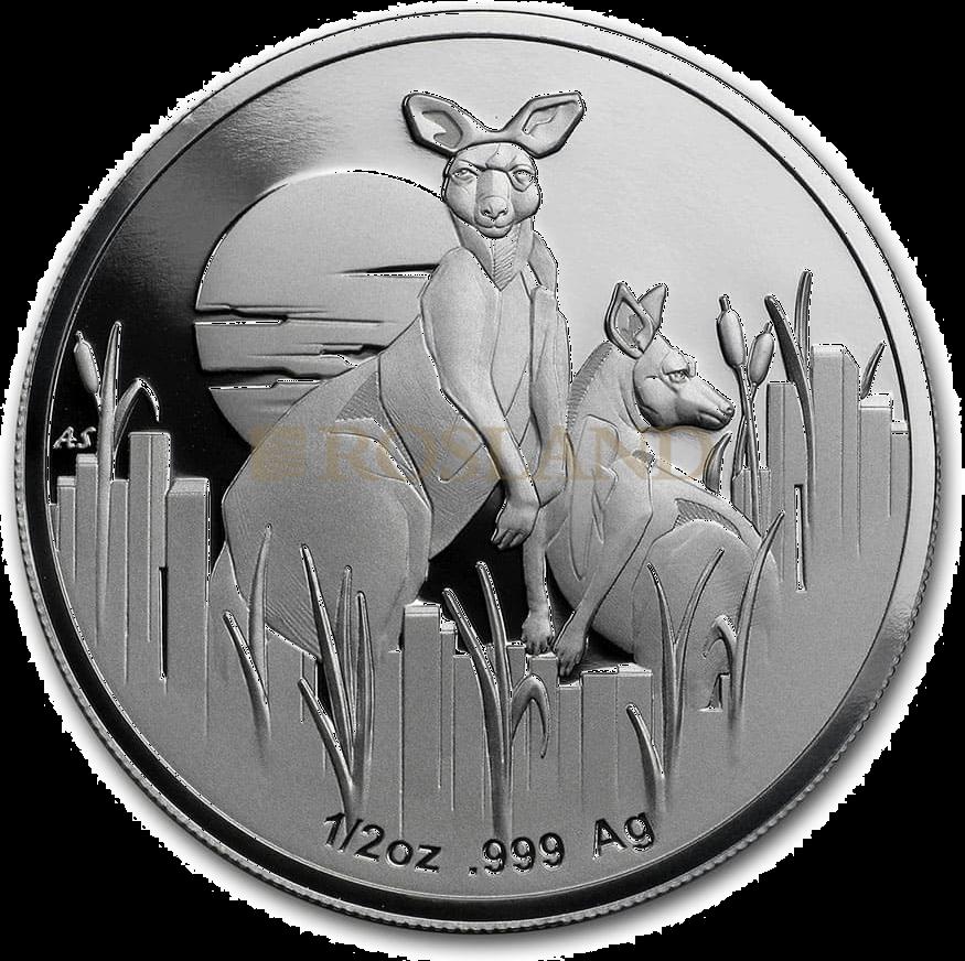 1 Unze Silbermünze Känguru - Australien in der Dämmerung 2020 PP (Box, Zertifikat)