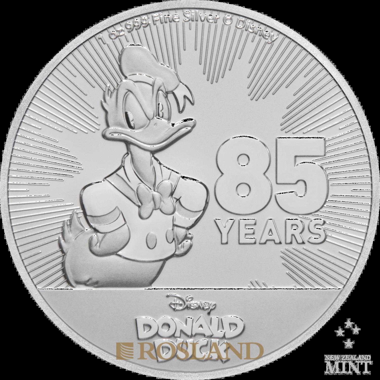 1 Unze Silbermünze Disney® Donald Duck 85 Jahre Jubiläum 2019