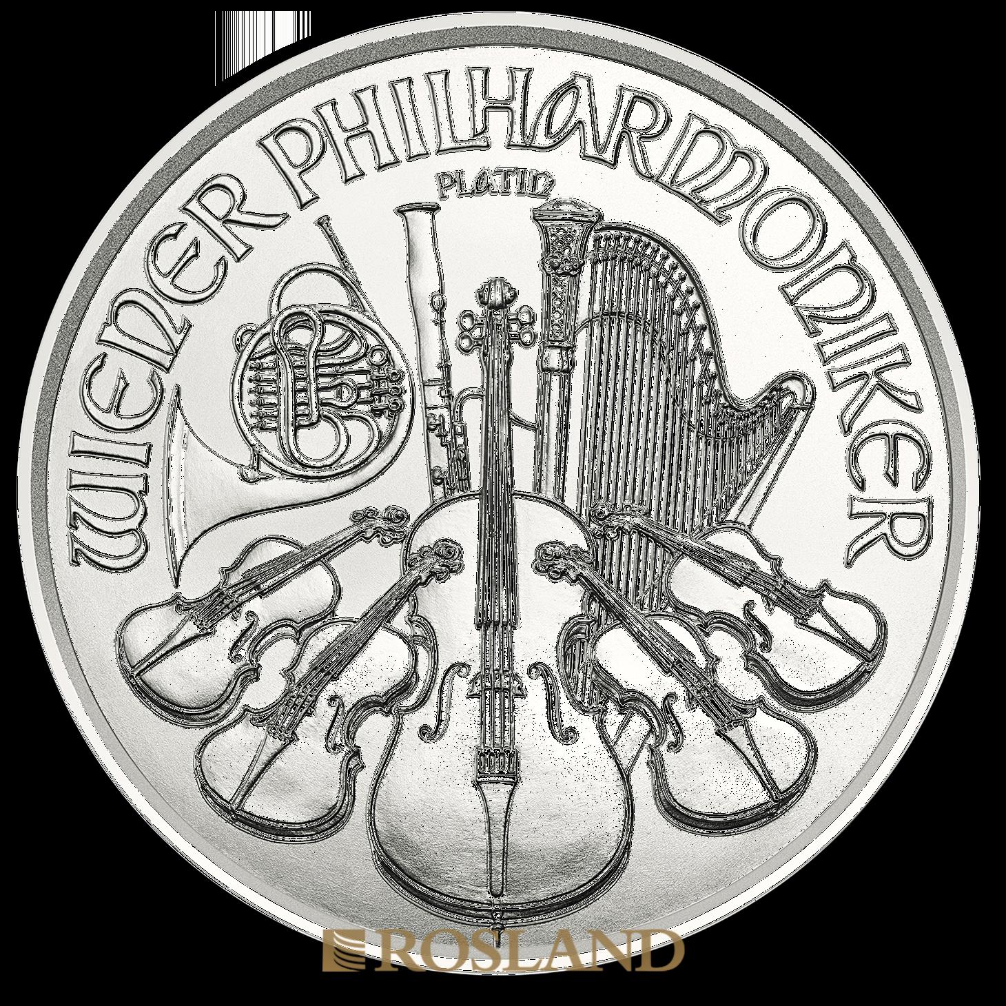 1 Unze Platinmünze Wiener Philharmoniker 2019