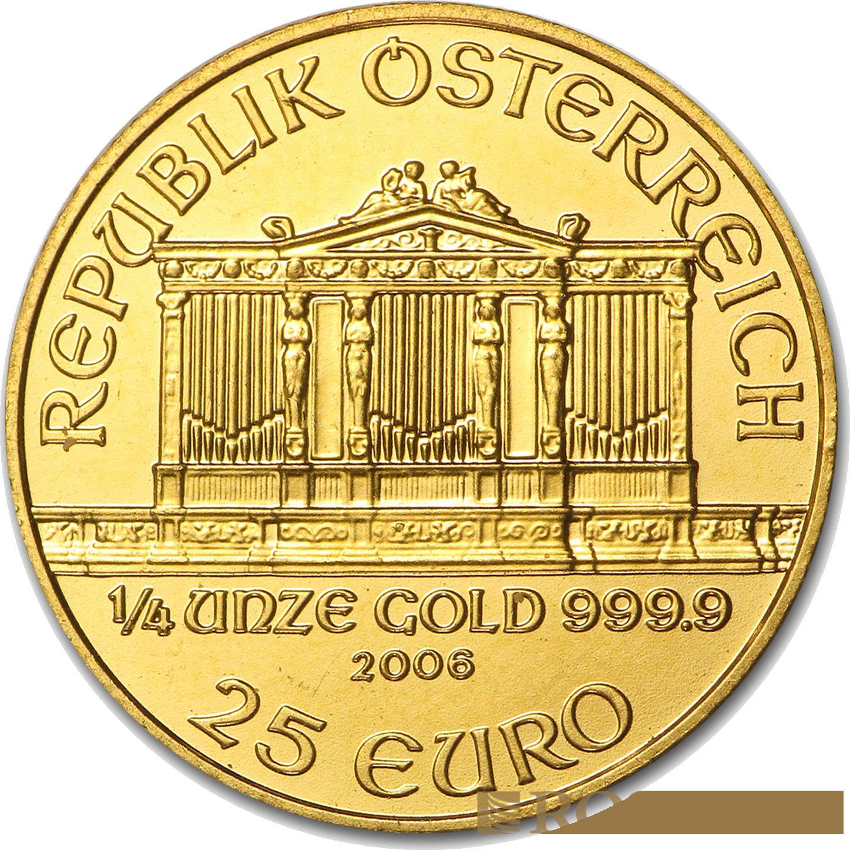 1/4 Unze Goldmünze Wiener Philharmoniker 2006