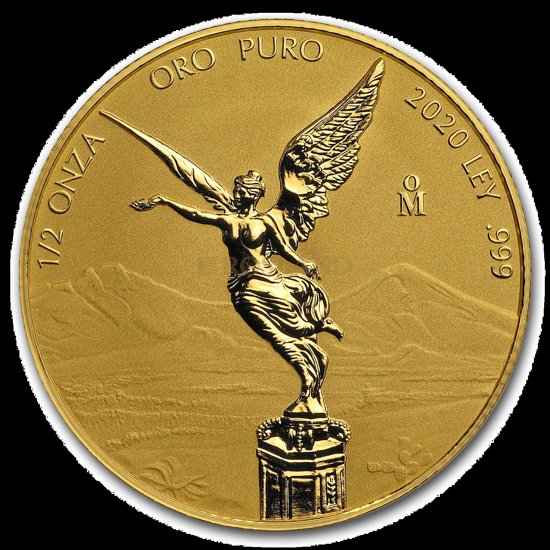 1/2 Unze Goldmünze Mexican Libertad 2020 Reverse Proof