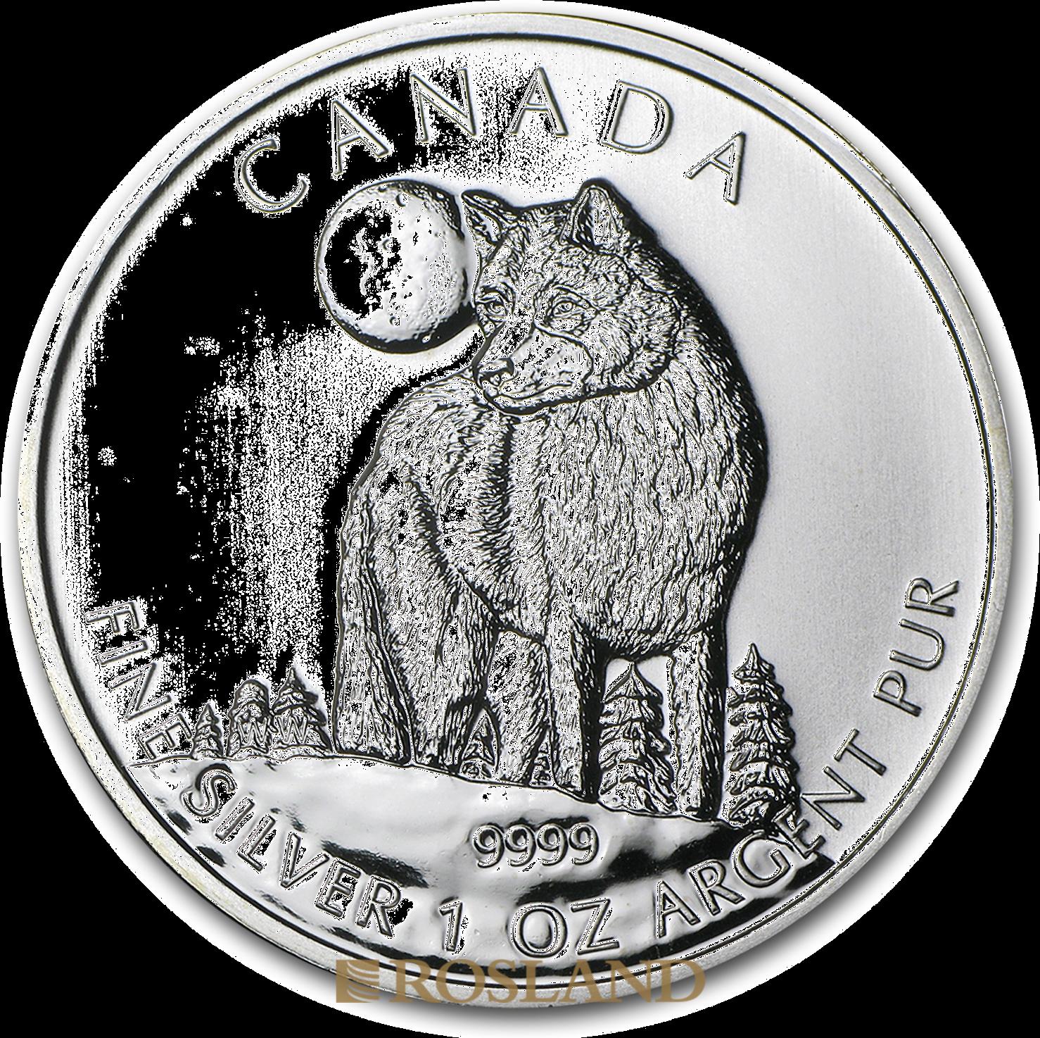 1 Unze Silbermünze Wildlife Wolf 2011