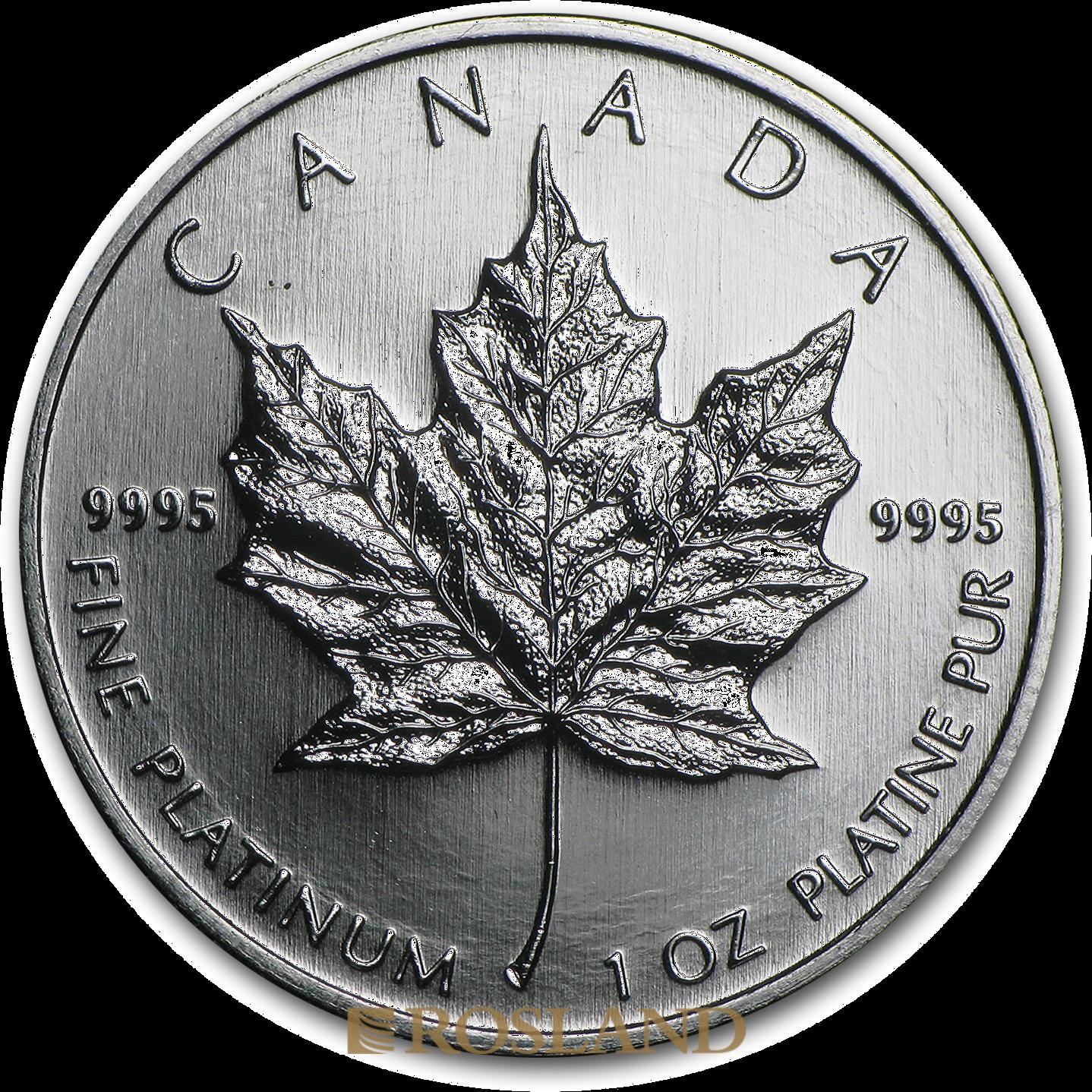 1 Unze Platinmünze Kanada Maple Leaf 2009
