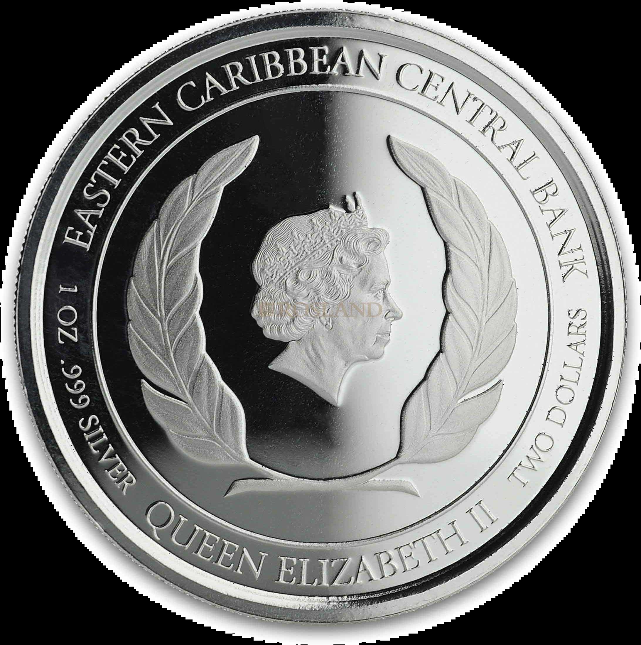 1 Unze Silbermünze EC8 Montserrat Emerald Isle of the Caribbean 2019 PP (Koloriert, Box)