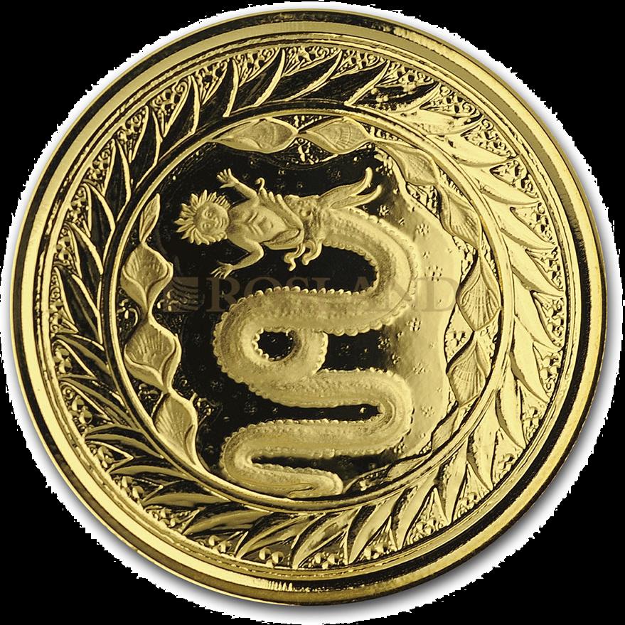 1 Unze Goldmünze Samoa Schlange von Mailand 2020