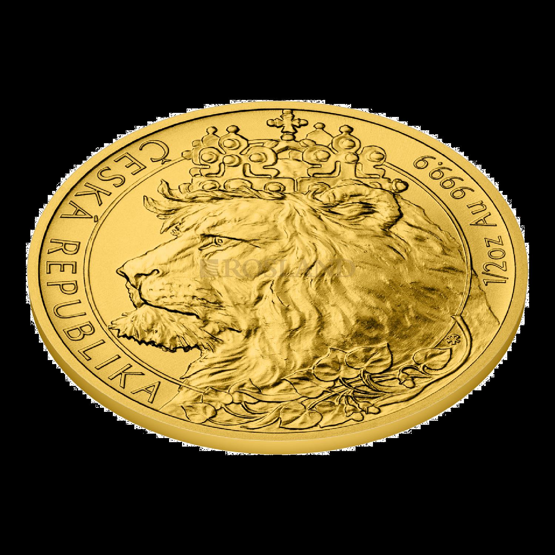 1/2 Unze Goldmünze Tschechischer Löwe 2021