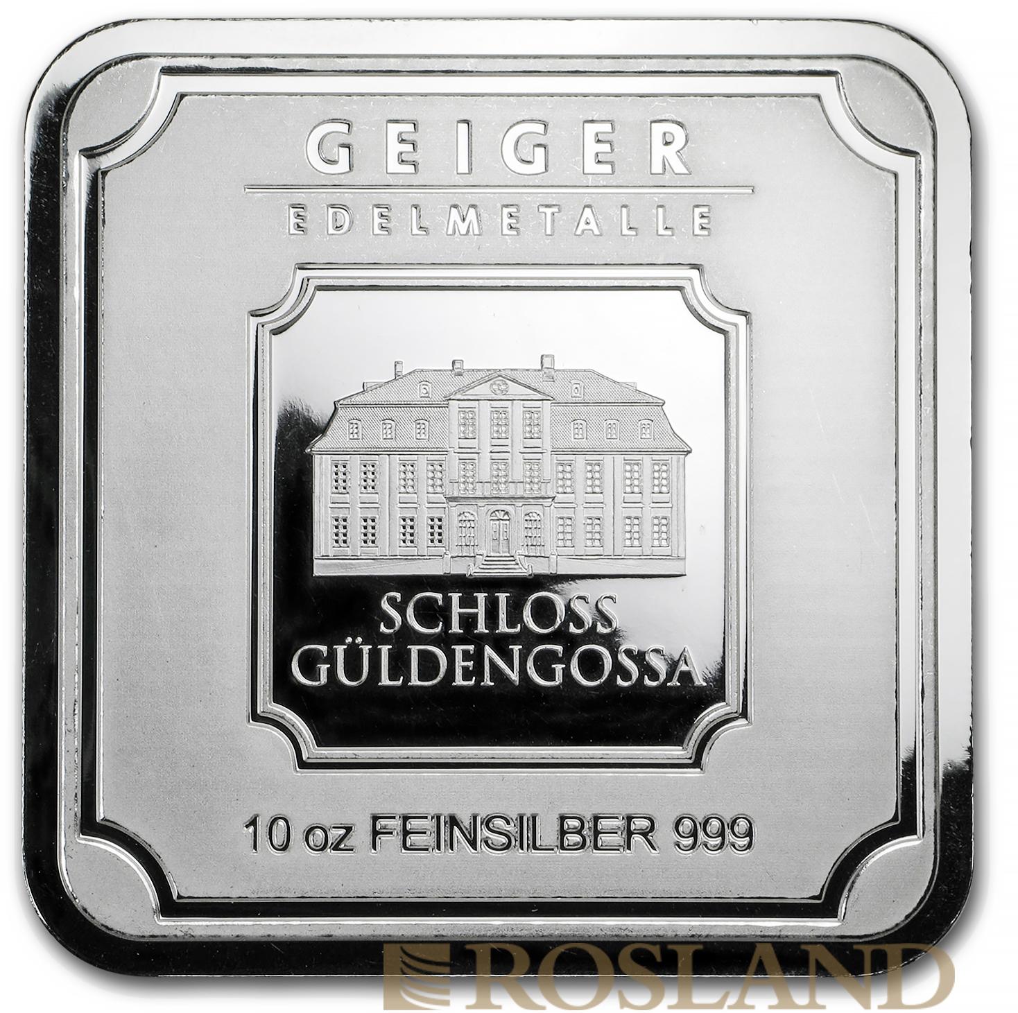 10 Unzen Silberbarren Geiger Edelmetalle Square Series