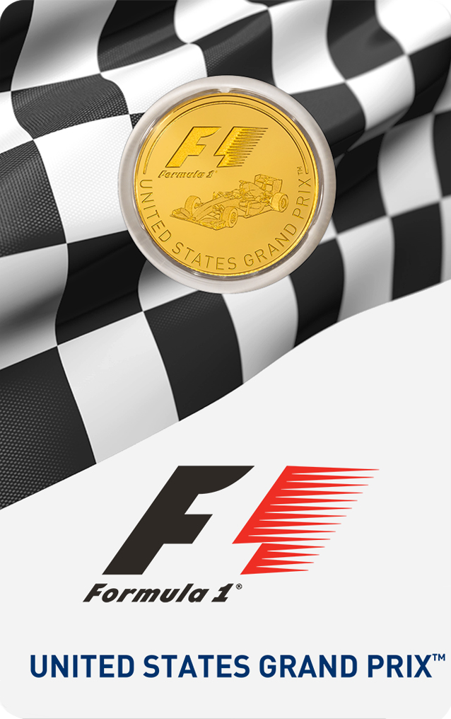 1/4 Unze Goldmünze Formel 1® United States GP™ 2016 PP (Box, Zertifikat)