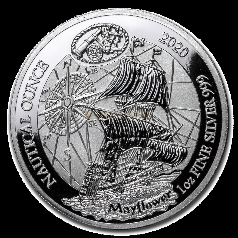 1 Unze Silbermünze Ruanda Nautical Mayflower 2020 PP