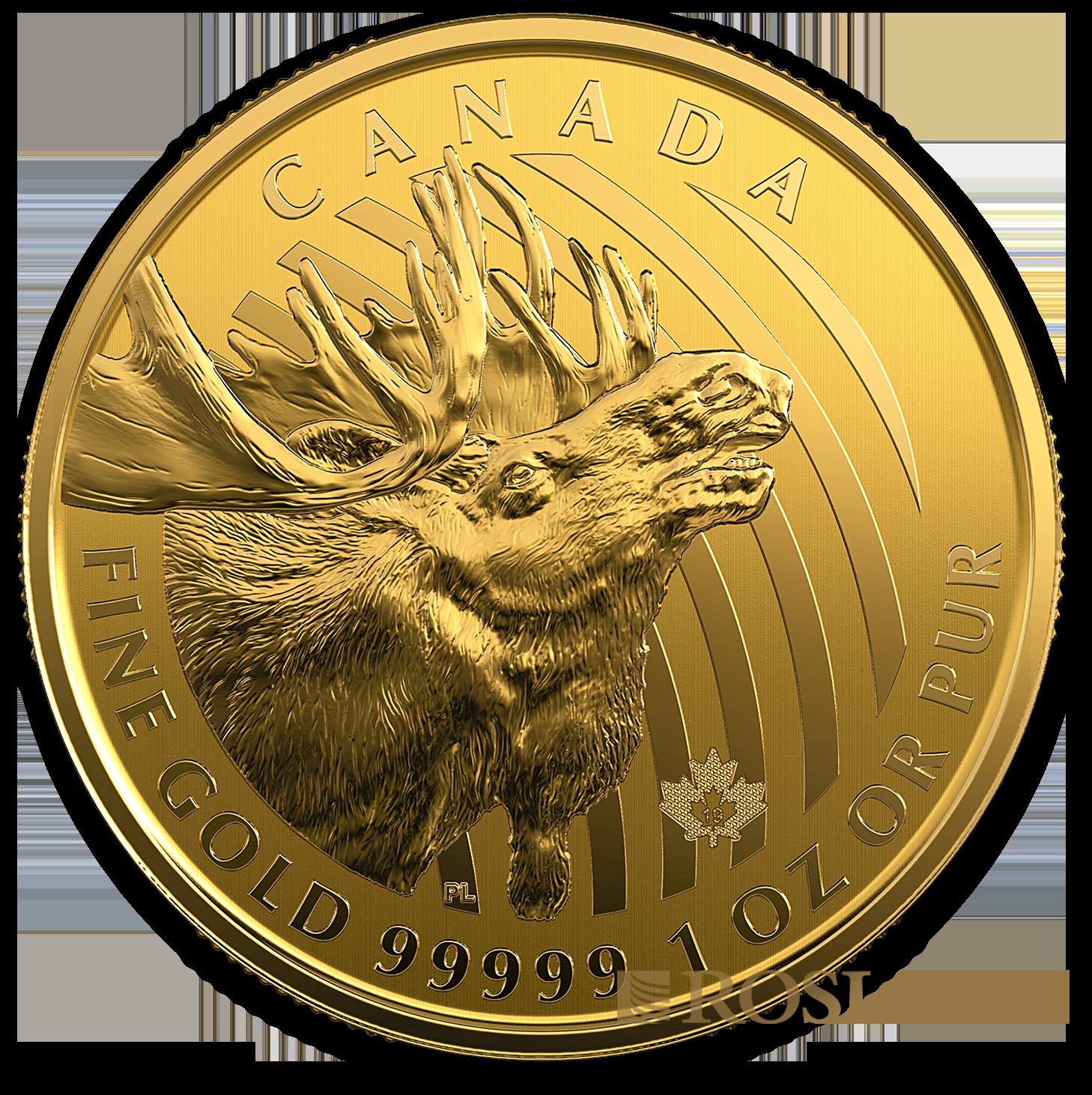 1 Unze Goldmünze Call of the Wild Elch 2019 (.99999 Gold, Blister)