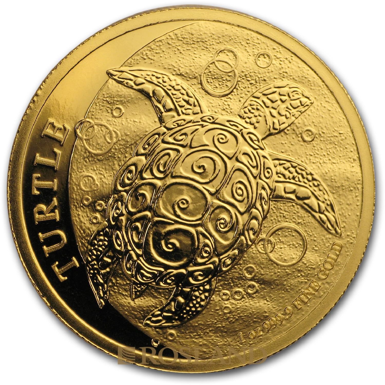 1 Unze Goldmünze Hawksbill Schildkröte 2019