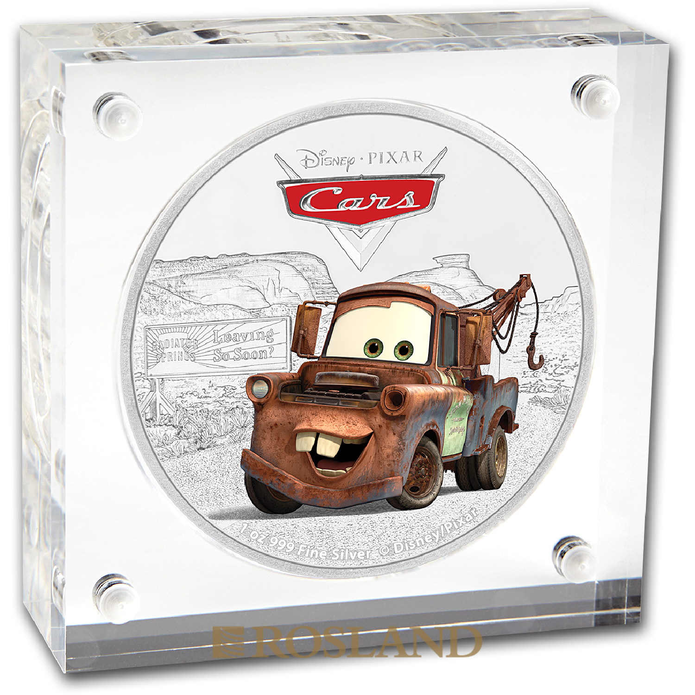 1 Unze Silbermünze Niue Disney® Cars Hook 2017 (Koloriert, Box)