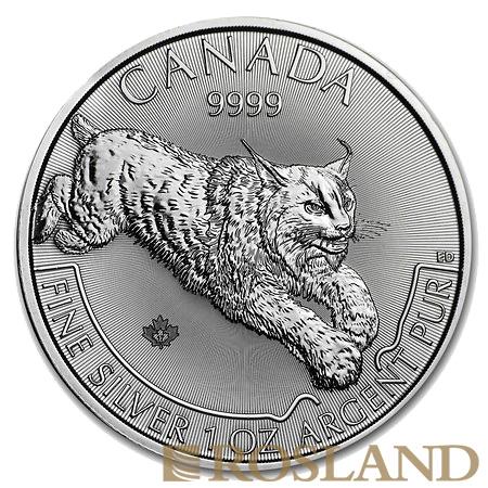 1 Unze Silbermünze Kanada Predator Serie Luchs 2017