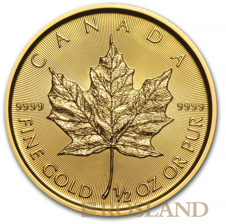 1/2 Unze Goldmünze Kanada Maple Leaf 2017
