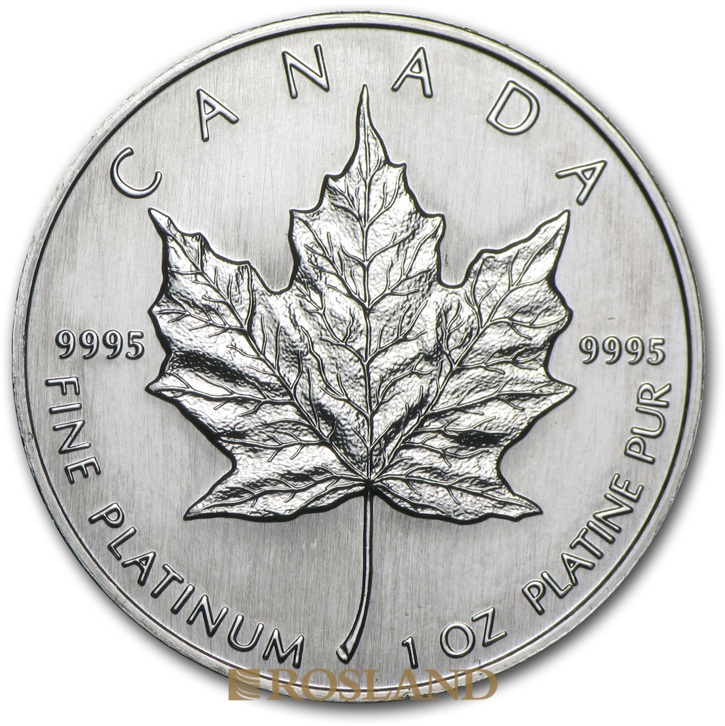 1 Unze Platinmünze Kanada Maple Leaf 1991