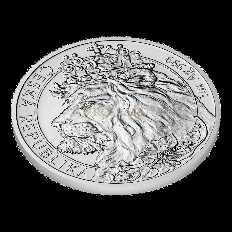 1 Unze Silbermünze Tschechischer Löwe 2021