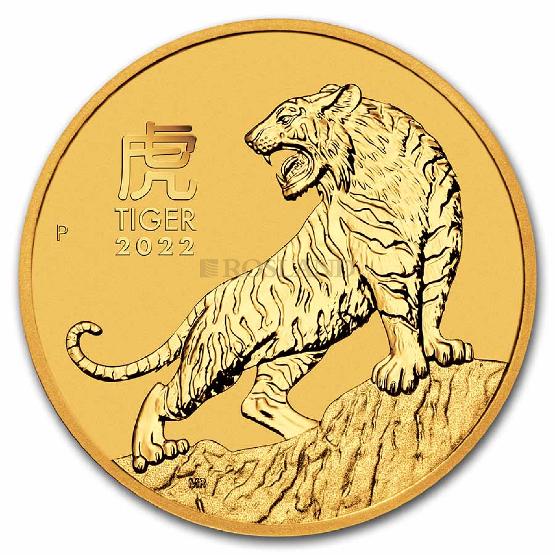 1/10 Unze Goldmünze Lunar 3 Tiger 2022