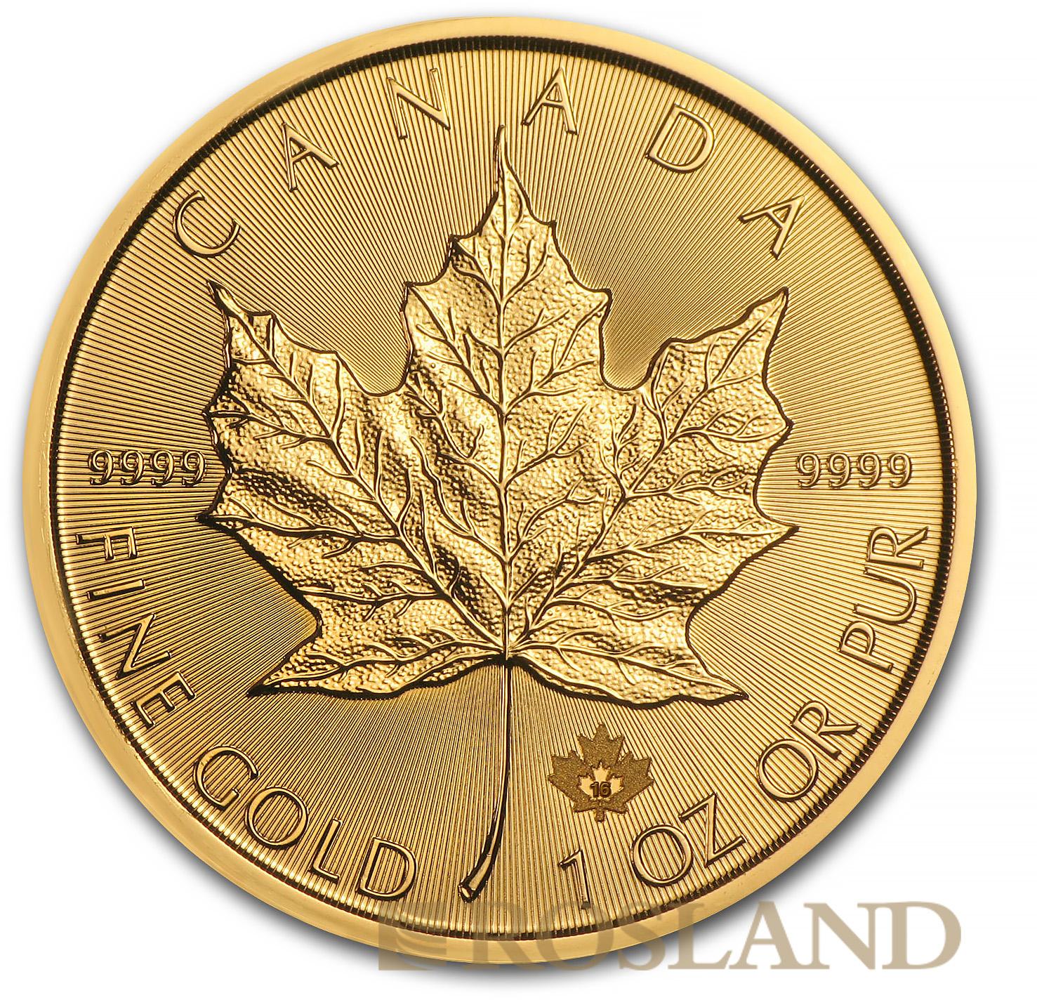 1 Unze Goldmünze Kanada Maple Leaf 2016